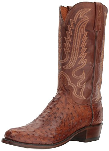 Barnwood Foot - Lucchese Bootmaker Men's Luke Western Boot, Barnwood/tan Burnished, 10.5 D US