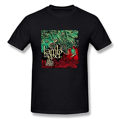 Qukkran Funny Mens Lamb of God Ashes of The Wake Inspired T-Shirt Black -