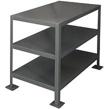 "Durham Steel Medium Duty Machine Table, MT243630-2K395,  3 Shelves,  2000 lbs Capacity,  36"" Length x 24"" Width x 30"" Height"