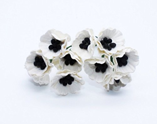 White 50 Mulberry Paper Poppy Flower Wedding Card Craft 2 - Frames Own Sunglasses Design Your
