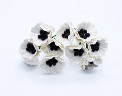 White 50 Mulberry Paper Poppy Flower Wedding Card Craft 2 - Own Design Your Sunglasses Frames