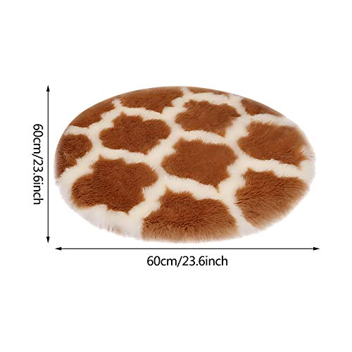Yubenhong Round Fluffy Soft Area Rugs for Kids Girls Room Princess Castle Plush Shaggy Carpet Cute Circle Nursery Rug for Kids Baby Girls Bedroom Living Room Home Decor Circular Carpet 23.62IN