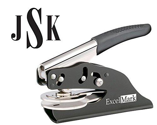 ExcelMark Hand Held Embosser - Monogram Gift Embosser – Style 24 by ExcelMark
