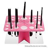 Docolor 26 Mix Size Makeup Brush Holder Air Drying Organizer Tools (Pink)