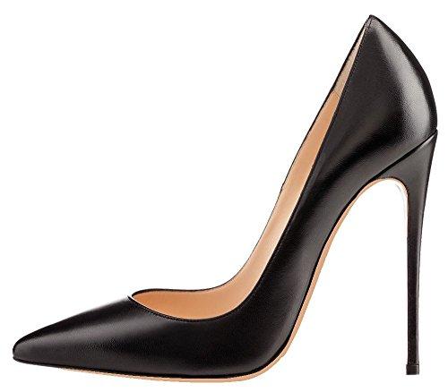 Talon Femme Grande Ubeauty Chaussures Stilettos Femmes Pu Aiguille Escarpins Taille Talons Noir crTTq8yI