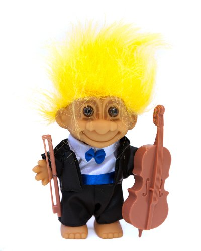 My Lucky Symphony Musician Troll w/Tuxedo & Cello - Yellow Hair (Soda Symphony compare prices)