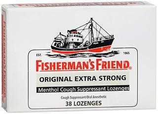 (Fisherman's Friend Original Extra Strong Menthol Cough Suppressant Lozenges - 38 lozenges, Pack of 5)
