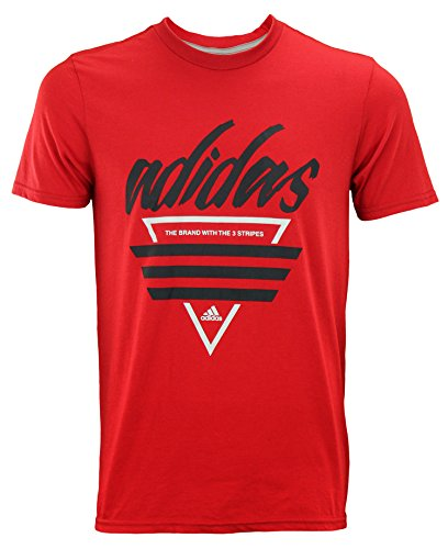 - adidas Men's Go to Graphic Tee's, Three Stripes Large