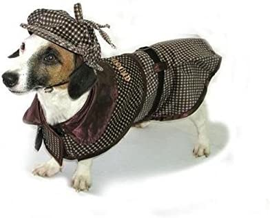 Red Sherlock Holmes Coat for Pup