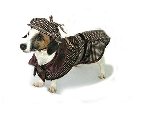 Dog Costume SHERLOCK HOUND COSTUMES - Famous Detective Dogs Outfit(Size 6) by Puppe Love