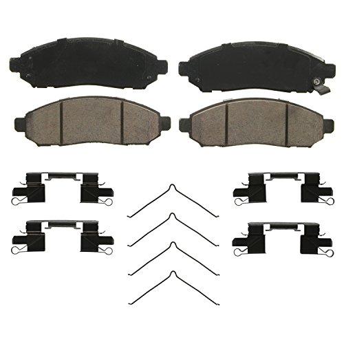 Brake Nissan Pathfinder (Wagner QuickStop ZD1094 Ceramic Disc Pad Set Includes Pad Installation Hardware, Front)