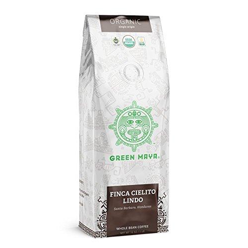 GREEN MAYA Coffee Beans Finca Cielito Lindo 100% Certified Organic Honduran Arabica Coffee