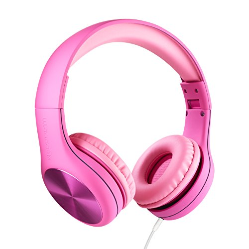 New! LilGadgets Connect+ Pro Premium Volume Limited Wired Headphones with SharePort for Children/Kids (Pink)
