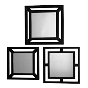 elements double square mirrors set of 3 home kitchen. Black Bedroom Furniture Sets. Home Design Ideas