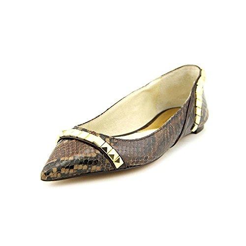 Michael Michael Kors Ella Snakeskin Studded Flats