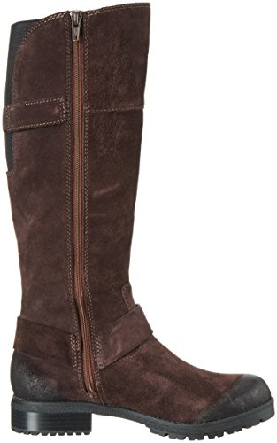 Clarks 261215924 - Botas Altas Para Mujer, Color Marrón (Dark Brown Suede), Talla 36 EU