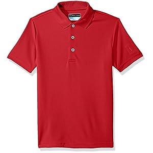 PGA TOUR Boys' Big Short Sleeve Airflux Polo
