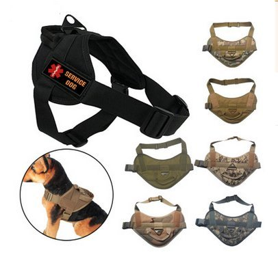 NEW TACTICAL POLICE DOG VEST HARNESS MOLLE USA MILSPEC CANINE HOOK US MILITARY VEST by Pocket EDC Tool