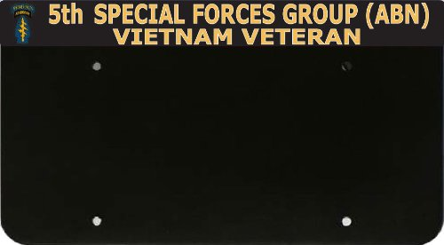 MW Solutions 5th Special Forces Group Vietnam Veteran License Plate Frame and License Plate Holder-Top Mount