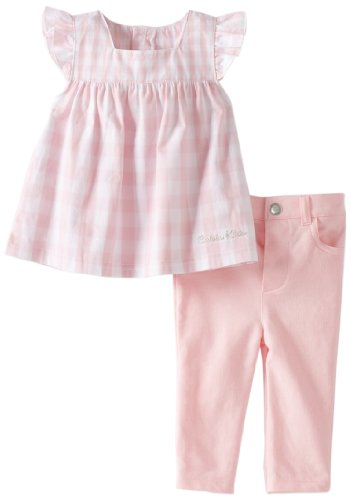 Calvin Klein Baby-girls Newborn Two Piece Pant Set