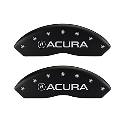 MGP Caliper Covers 39018STLXBK Black Powder Coat Finish Acura//TLX  Engraved Caliper Cover with Silver Characters Set of 4