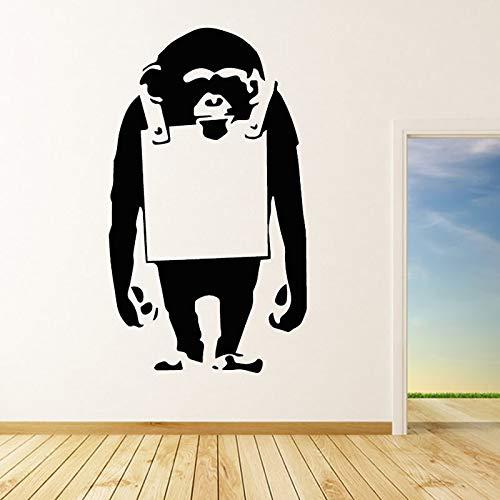 Diseño Moderno Mono Lindo Etiqueta de la Pared de Gran tamaño ...