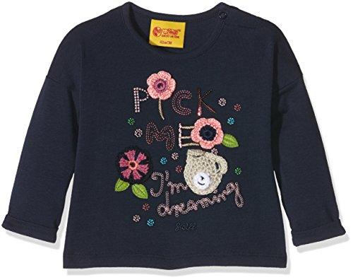 Steiff Collection Mädchen Langarmshirts T-Shirt 1/1 Arm, Gr. 86, Blau (black iris 3800)