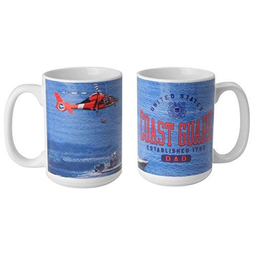 Coast Guard Mug (United States Coast Guard Dad 15oz. Coffee Mug)