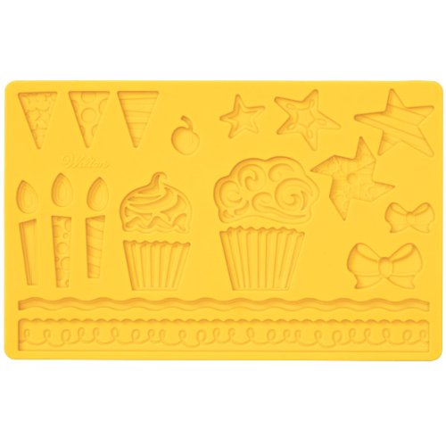 Wilton Fondant and Gum Paste Silicone Mold, Kids Party