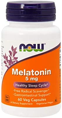Amazon.com: NOW FOODS SPO Melatonin 5Mg Cap, 60 Count: Health & Personal Care