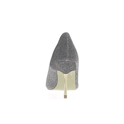 Escarpins gris paillettes à talons aiguille de 8,5cm bouts pointus