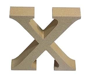 Beige pie carta X superior caso de madera MDF H13cm X W11cm x D2cm
