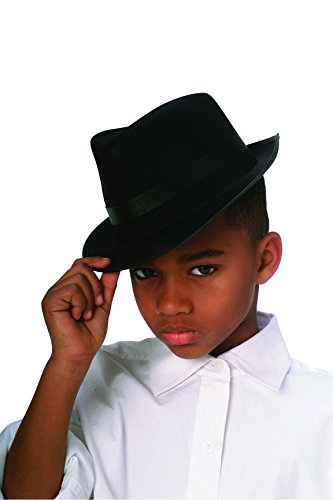 [Rubies Black Fedora Child Hat, Black] (Fedora Gangster Hat)