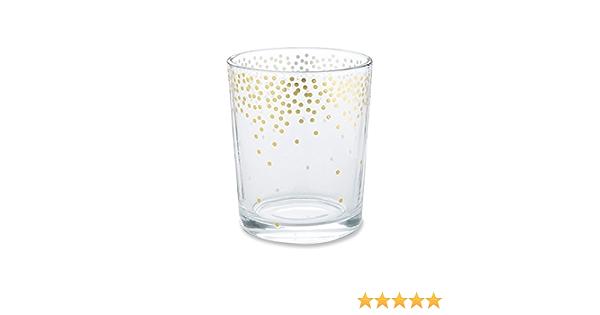Kate Aspen 20196GD Gold Foil Dot Tea Light Holder Set of 4