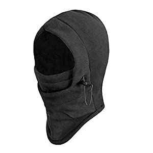 6 in 1 Thermal Fleece Balaclava Hood Skimaske Mütze Sturmhaube Windmaske...