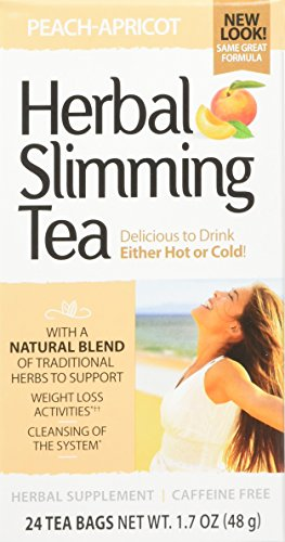 (21st Century Slimming Tea, Peach Apricot, 24 Count)