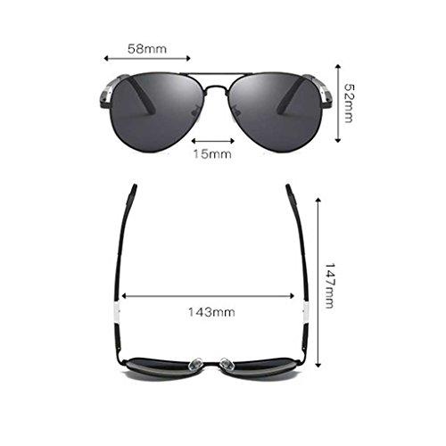 Hombres Coolsir de de Boy de Sol de Gafas Doble luz Gafas los de Sol Eyewear piloto Providethebest de Color la Manera Marco polarizada 1 Metal 5P75qw8v