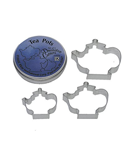(R&M International 1924 Teapot Cookie Cutters, Assorted Sizes, 3-Piece Set)