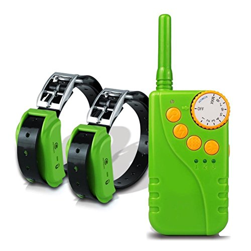 MUJING Waterproof And Rechargeable Dog Shock Collar 660 Yd Remote Dog Training Collar With Beep/Vibrating/Shock Electric E-Collar,Green