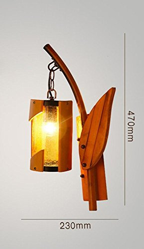 DEN Vintage Bedroom Bedside Lamp Creative Bamboo Cafe Inn B&B Wall Lamp,G,Single head