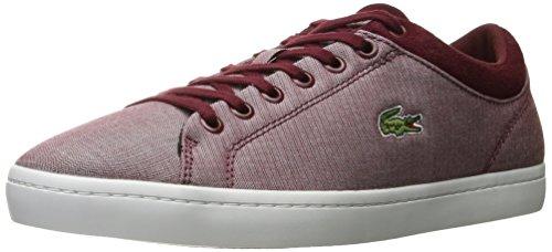 Lacoste Hommes Straightset Spt 1163 Spm Mode Sneaker Rouge Foncé