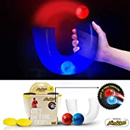 pindaloo Skill Toy +2 Led Light Up Balls. Challenged and Excited Gift for Teens and Kids. Lots of Fun, for Indoor and Outdoo
