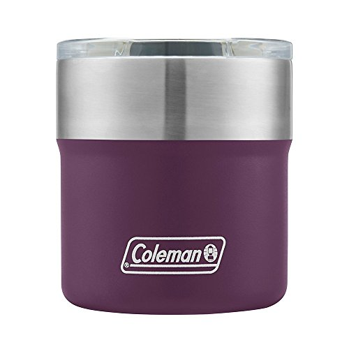 Coleman Violet Sundowner Insulated Stainless Steel Rocks Glass, 13oz by Coleman