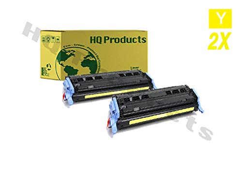 HQ Products Remanufactured Replacement for HP 124A (Q6002A) Yellow Toner Cartridge for HP Color Laserjet 1600, 2600N, 2605DN, 1015MFP, 1017MFP Series Printers