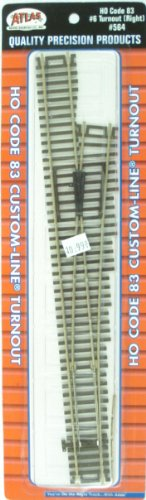 Code 83 Remote Switch Machine - Atlas HO Scale Code 83 Custom-Line #6 Turnout Manual Right