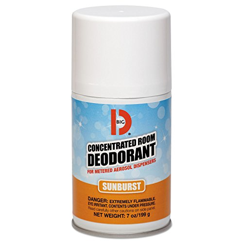 Big D Industries Metered Concentrated Room Deodorant, Sunburst Scent, 7 Oz Aerosol, 12/Carton