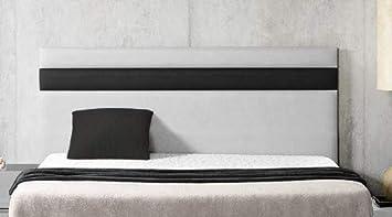 SUENOSZZZ - Cabecero Ibiza. Color Blanco/Negro (Camas 135) 145X57 Cms