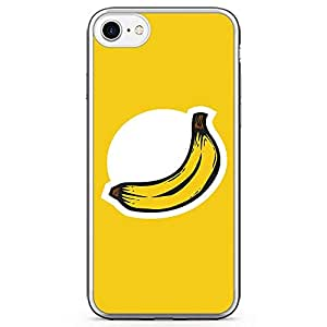 iPhone 7 Transparent Edge Phone Case Banana Phone Case Logo Banana iPhone 7 Cover with Transparent Frame