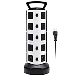 Power Strip Tower JACKYLED Surge Protect...