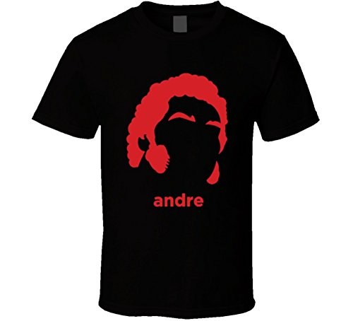 Andre The Giant Wrestling Legend Retro Wrestling T Shirt XL Black by The Village T Shirt Shop